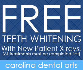 Free Teeth Whitening, With New Patient X-rays! (All treatments must be completed first)